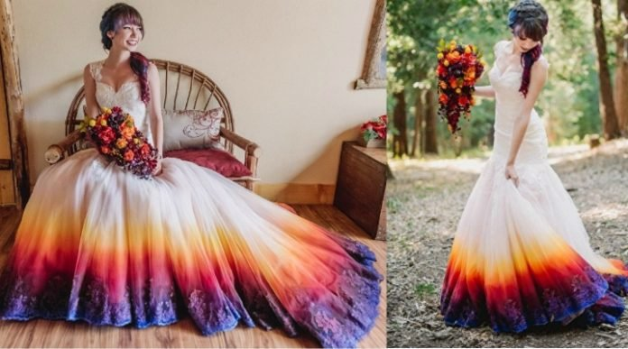 Gorgeous Dip-Dyed Wedding Dress That Will Make You Want To Add ...